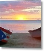 Puerto Rico Sunset On The Beach Metal Print