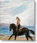 Puerto Vallarta Beach Ride Metal Print