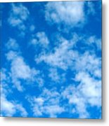 Puffs Scattered Metal Print