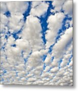 Puffy Clouds And Blue Sky Metal Print