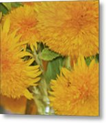 Puffy Golden Delight Metal Print
