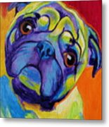 Pug - Lyle Metal Print by Alicia VanNoy Call