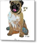 Pug Pop Art Metal Print