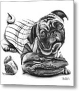 Pug Ruth  Metal Print by Peter Piatt