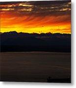 Puget Sound Olympic Mountains Sunset Metal Print