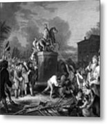 Pulling Down The Statue Of George IIi Metal Print by War Is Hell Store