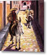 Pulling Up The Rear In Mexico Metal Print