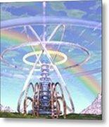 Pulsar Beacon Metal Print