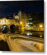 Pulteney Bridge At Night Metal Print