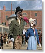 Pumi Art Canvas Print - Settling Day At Tattersalls Metal Print