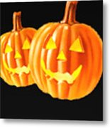 Pumpkin Double  Metal Print