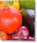 Pumpkin With  Vegetables Metal Print