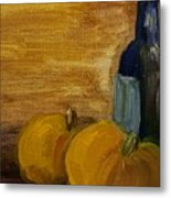 Pumpkins And Wine  Metal Print