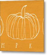 Pumpkins- Art By Linda Woods Metal Print