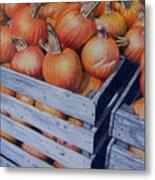 Pumpkins Two Metal Print