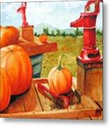 Pumps And Pumpkins Metal Print