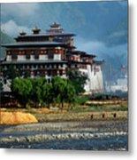 Punakha Dzong Metal Print