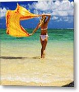 Punaluu Beach Vacation Metal Print by Tomas del Amo - Printscapes
