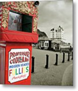 Punch And Judy Theatre On Llandudno Promenade Metal Print