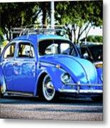 Punch Buggie Blue Metal Print