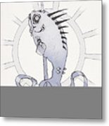 Punk Fish Metal Print
