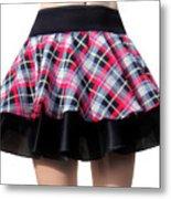 Punk Style Mini Skirt - Ameynra Fashion Metal Print