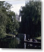 Punters Glide Past Trinity College Metal Print