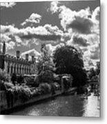 Punting, Cambridge. Metal Print