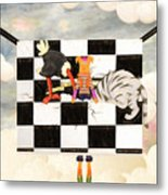 Puppet Doggy In Trouble Again Metal Print
