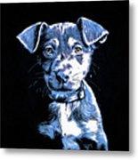 Puppy Dog Graphic Novel Drawing Metal Print