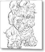 Puppy_printfilecopy Metal Print