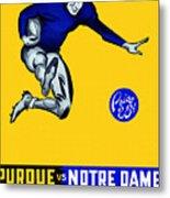 Purdue V Notre Dame 1947 Program Metal Print