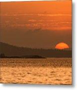 Pure Golden Sunset Metal Print