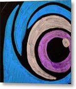 Purple And Blue Eyeball In Saint Augustine Florida Metal Print