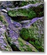 Purple And Green Rock Metal Print