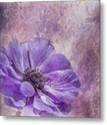 Purple Anemone Art Metal Print