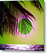 Purple Beach Metal Print