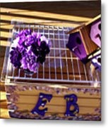 Purple Birdhouses 1 Metal Print