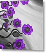 Purple Blooms Metal Print by Brenda Higginson