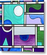 Purple-blue-green Abstract 1 Metal Print