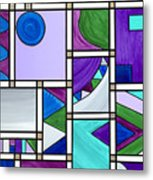 Purple-blue-green Abstract 3 Metal Print