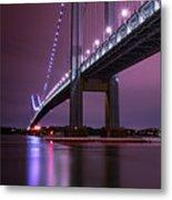 Purple Bridge Metal Print