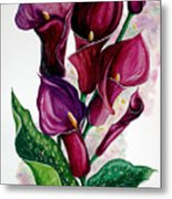 Purple Callas Metal Print