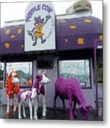 Purple Cow 1 Metal Print
