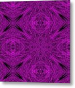 Purple Crossed Arrows Abstract Metal Print