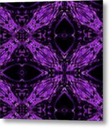 Purple Crosses Connecting Metal Print