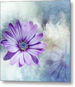 Purple Daisy Swirl Metal Print