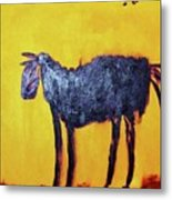 Purple Desert Donkey Metal Print