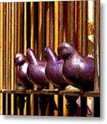 Purple Doves 1 Metal Print