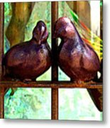 Purple Doves 2 Metal Print